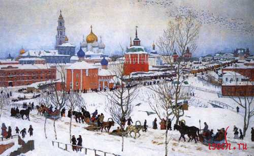 Картина К.Ф. Юона «Зима. Ростов Великий»