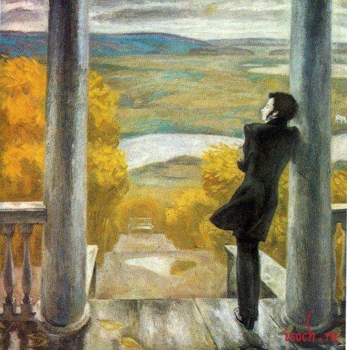 Картина В. Попкова «Осенние дожди»