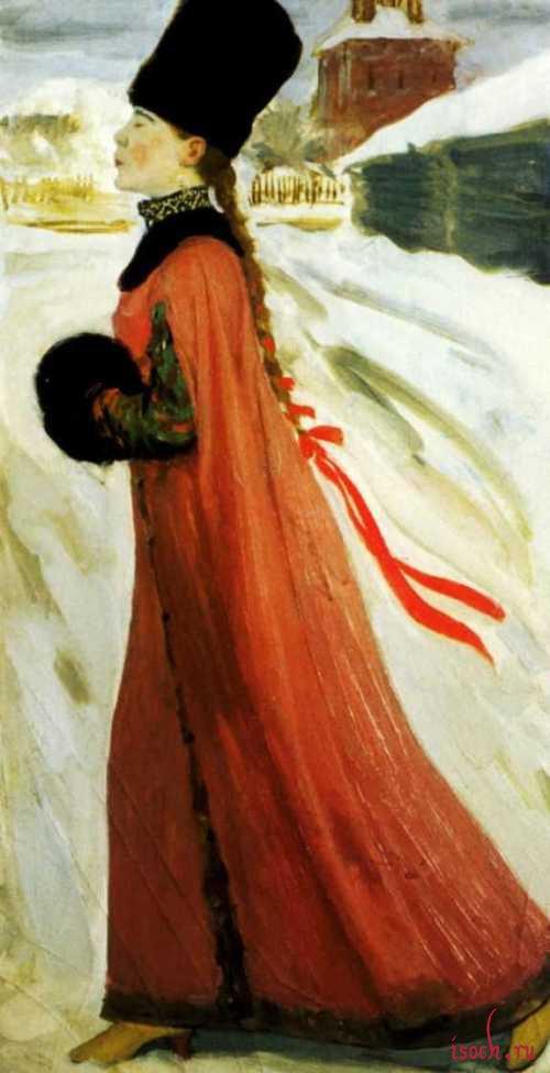 Картина А.П. Рябушкина «Московская девушка XVII века»