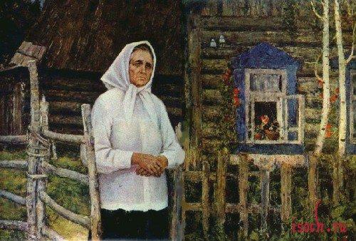 Картина В. Игошева «Она все сына ждет»