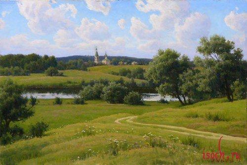 Картина Б.В. Щербакова «Русь Подмосковная»