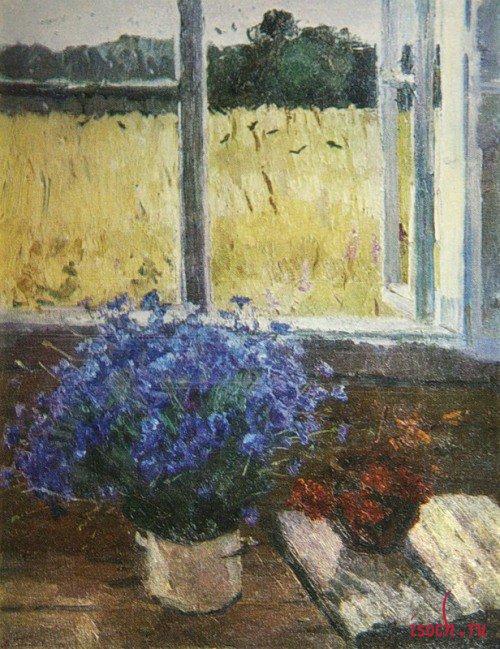 Картина В.Н. Гаврилова «Последние васильки»