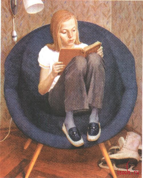 Картина В. Хабарова «Портрет Милы»