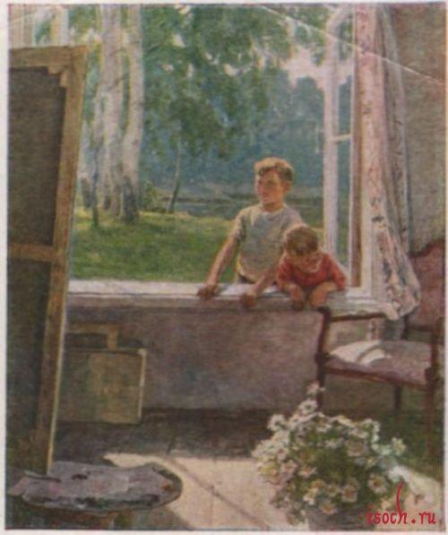 Картина Е. Сыромятниковой «Первые зрители»