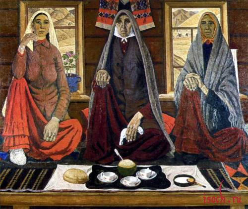 Картина А. Лутфуллина «Три женщины»