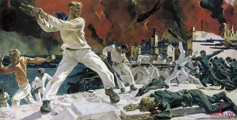 Картина А.А. Дейнеки «Оборона Севастополя»