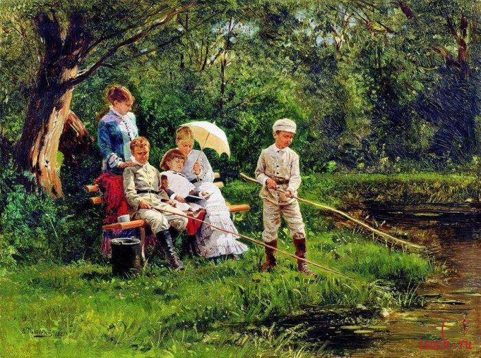 Картина В.Е. Маковского «В жаркий день»
