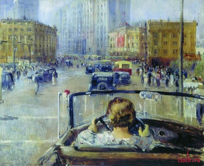 Картина Ю.И. Пименова «Новая Москва»