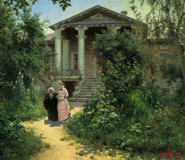 Картина В.Д. Поленова «Бабушкин сад»