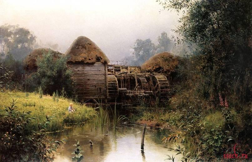 Картина В.Д. Поленова «Старая мельница»