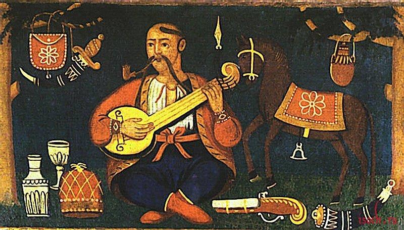 Картина неизвестного художника «Казак Мамай»