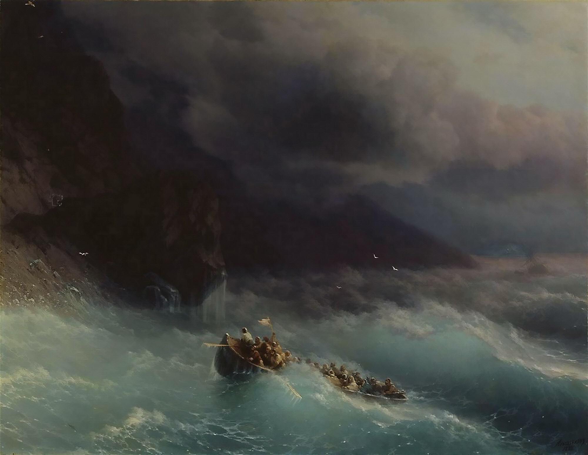 Картина И.К. Айвазовского  «Буря на Черном море»