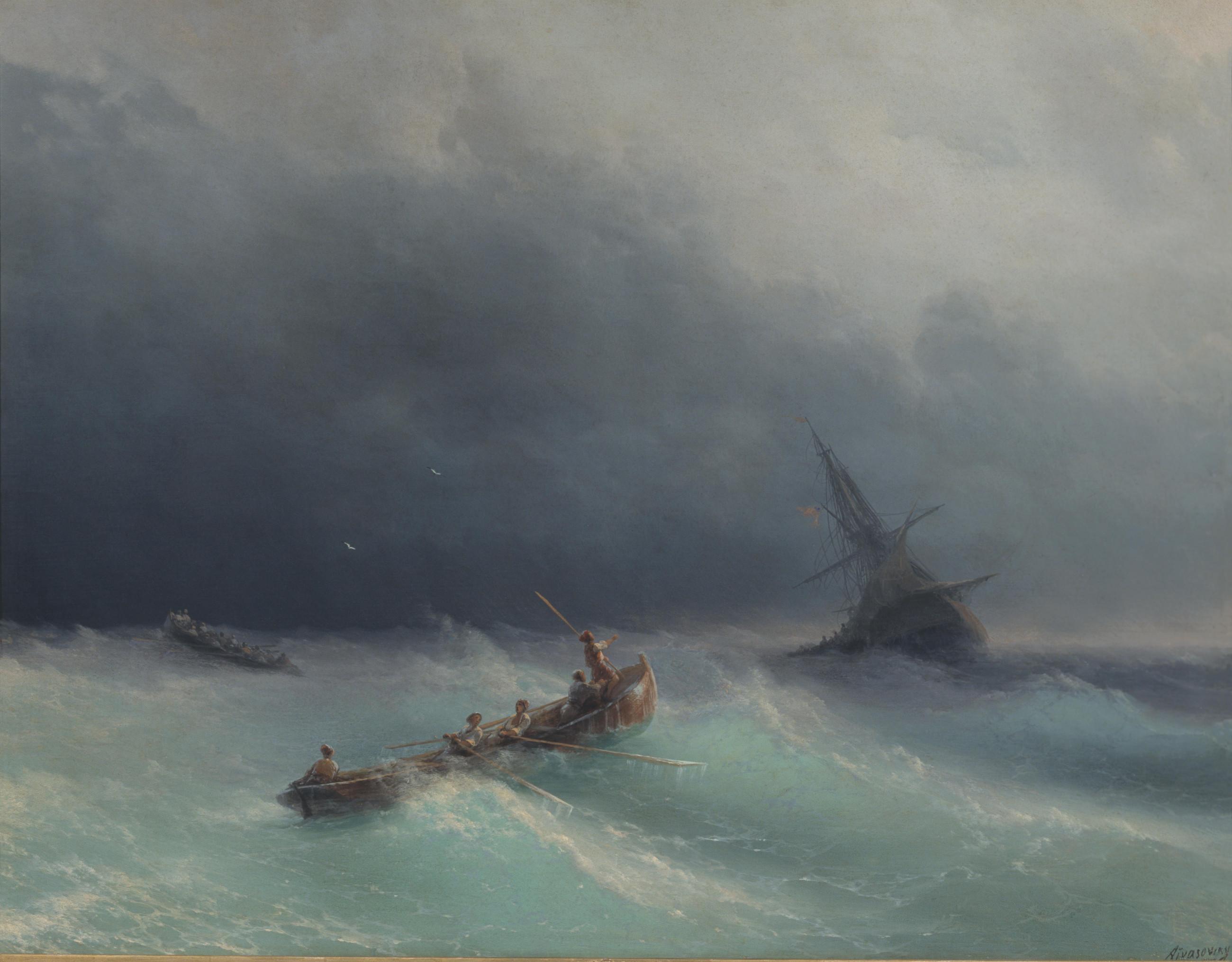 Картина И.К. Айвазовского «Буря»