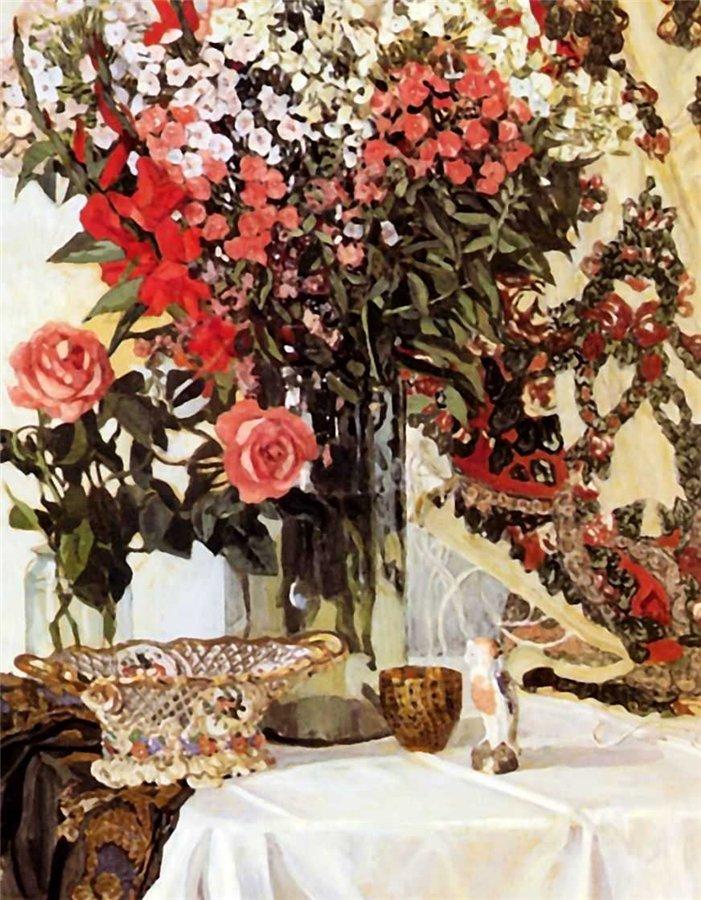 Картина А.Я. Головина «Натюрморт с цветами»