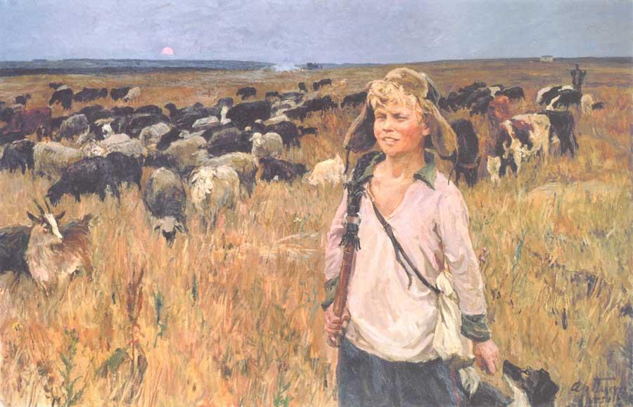 Картина И.И. Пластова «Витя-подпасок»