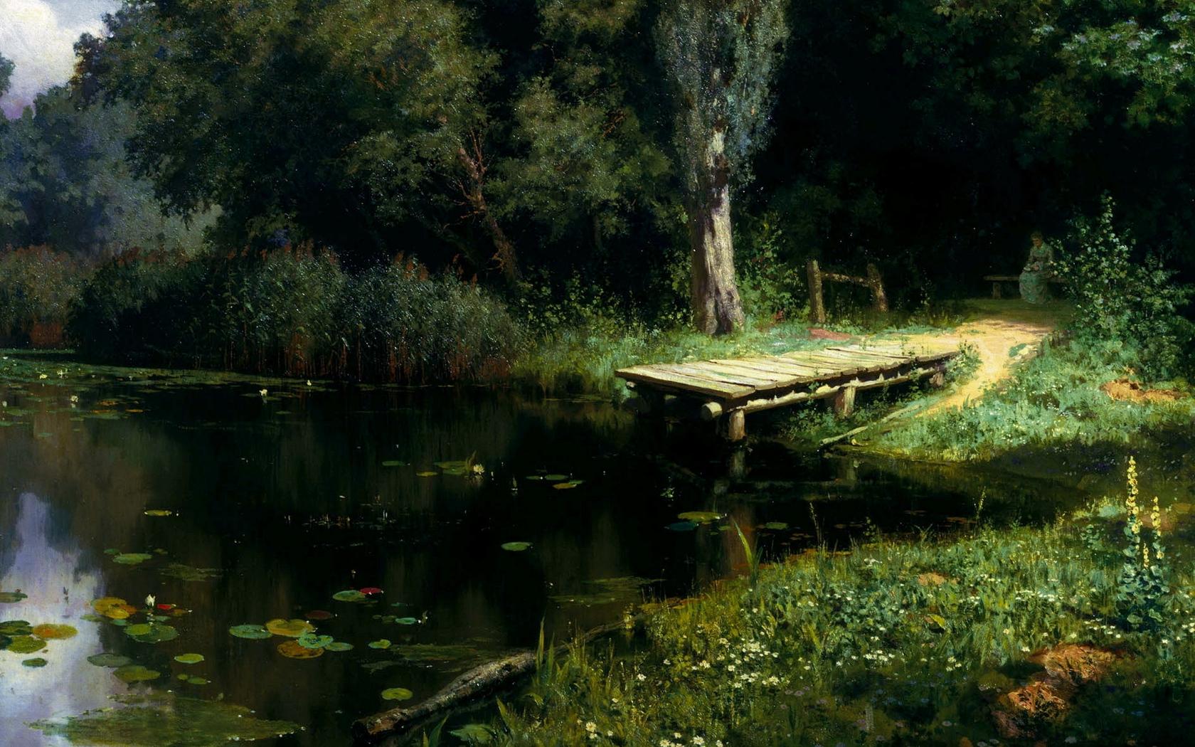 Картина В.Д. Поленов «Заросший пруд»