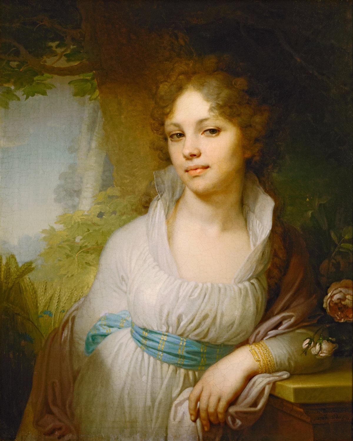 Картина В.Л. Боровиковского «Портрет М.И.Лопухиной»