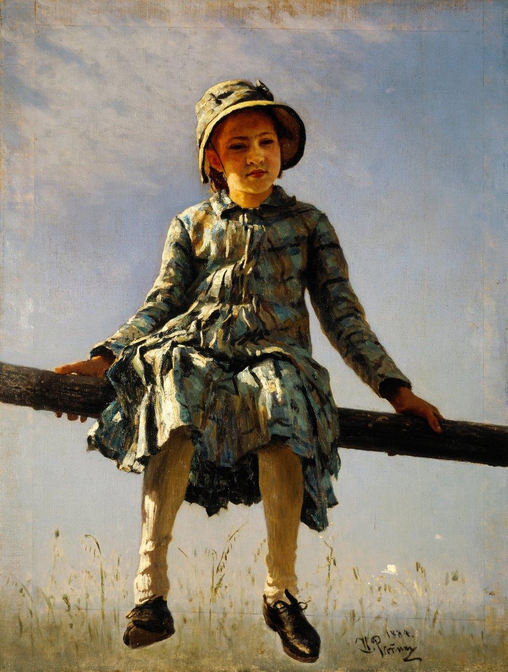 Картина И.Е. Репина «Стрекоза» (2 вариант)