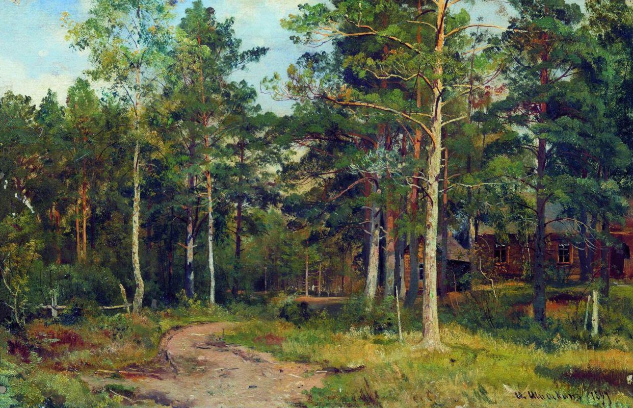 Картина И.И. Шишкина «Осенний пейзаж. Дорожка в лесу»