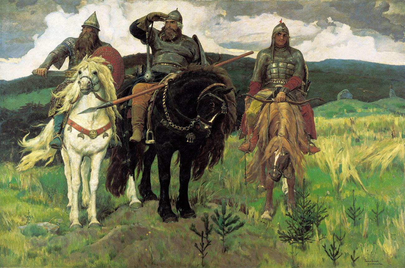 Картина В.М. Васнецова «Богатыри» (2 вариант)