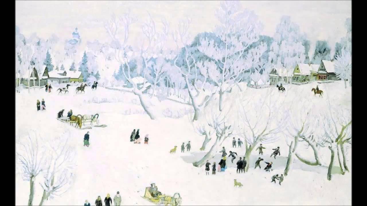 Картина К.Ф. Юона «Волшебница-зима. Лигачево. Московская губерния»